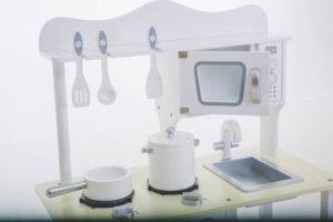 Detalhes da mini cozinha Branca