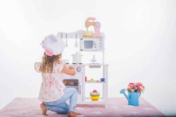 Cozinha de Brinquedo Branca para crianças