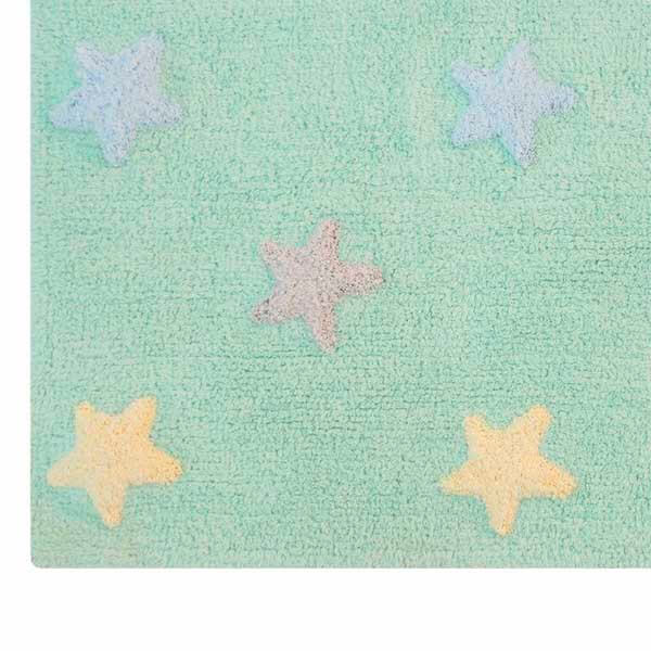 tapete para piso - menta estrelado 2