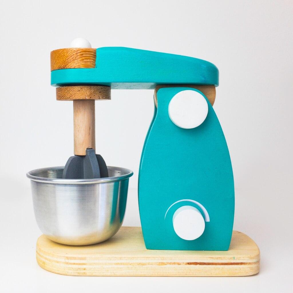 Batedeira Turquesa L Brinquedos Educativos De Madeira L Cozinha Infantil